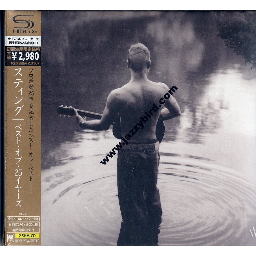 Best Of 25 Years Shm Cd By Sting Cd X 2 With Jazzybird