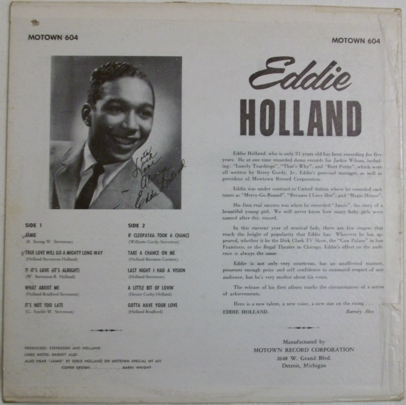 EDDIE HOLLAND jamie, LP for sale on groovecollector.com