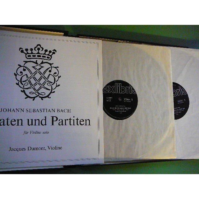 JACQUES DUMONT Jean Sebastien BACH = sonaten und Partiten für violine solo