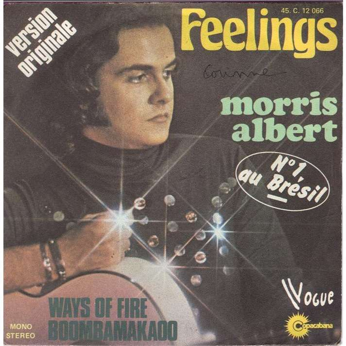 Feelings Ways Of Fire Boombamakado France By Morris Albert