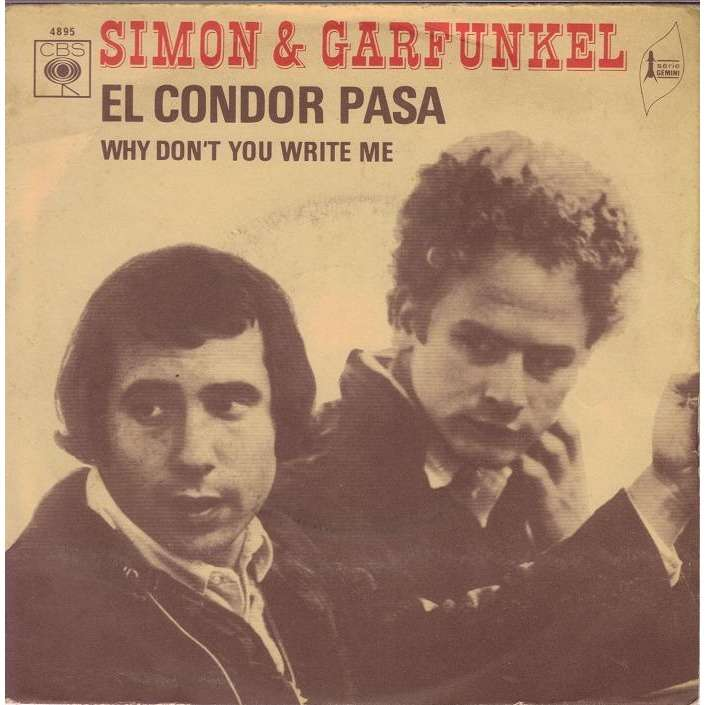 SIMON & GARFUNKEL EL CONDOR  PASA/WHY DON'T YOU WRITE ME.France