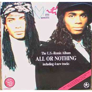 milli vanilli all or nothing remix album