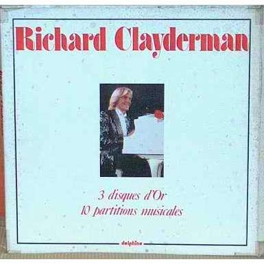 richard clayderman (2) 3 disques d'or (1 sans partitions) coffret