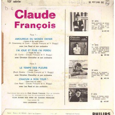 Francois Claude Amoureux du monde entier