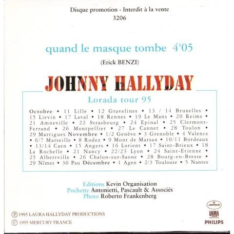 Hallyday Johnny Quand le masque tombe