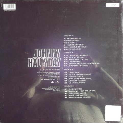 Hallyday Johnny A la vie à la mort