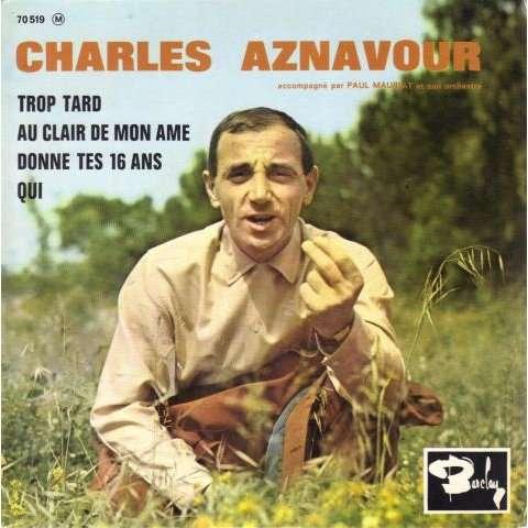 Aznavour Charles - Trop tard - 7inch EP