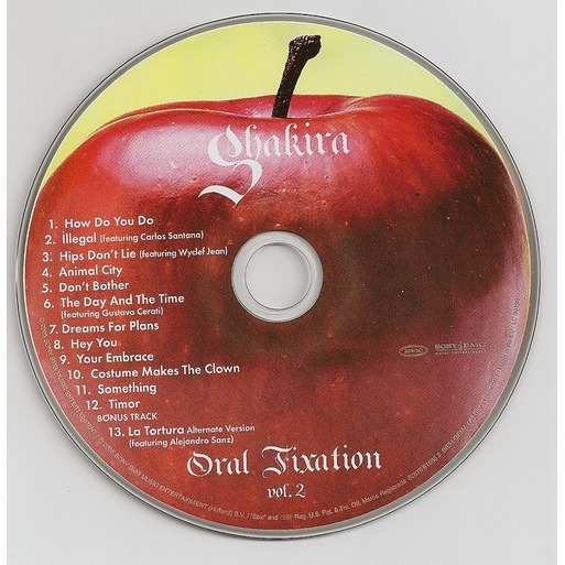 Oral Fixation Vol 2 By Shakira Cd With Kroun2 Ref 114316560