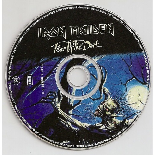 Fear Of The Dark By Iron Maiden Cd With Kroun2 Ref