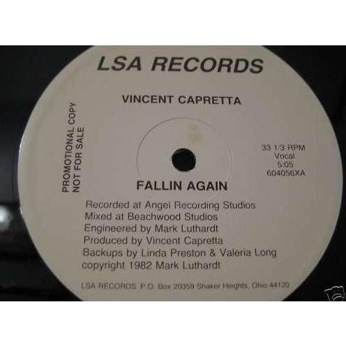 VINCENT CAPRETTA - fallin again - 12 inch 33 rpm