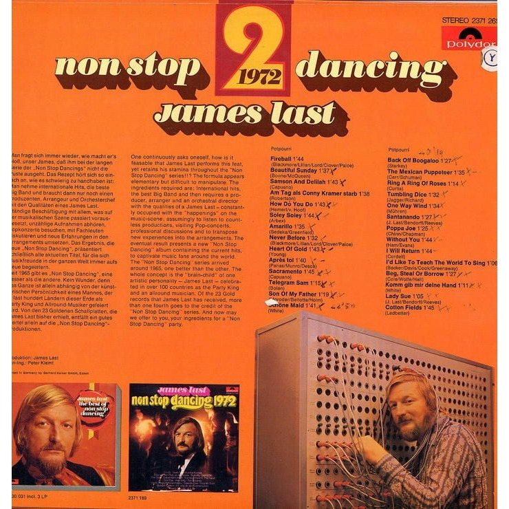 JAMES LAST NON STOP DANCING 1972 / 2