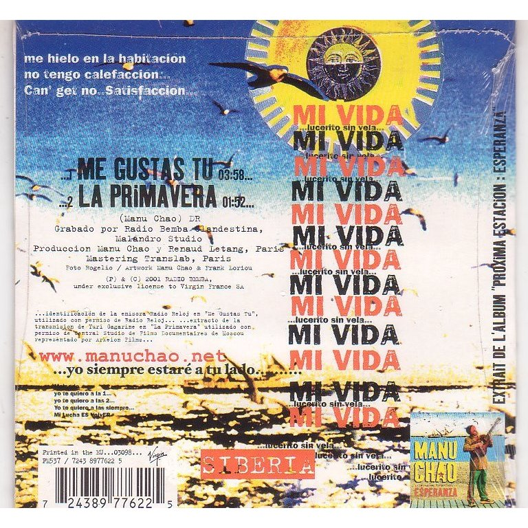 Me gustas tu by Manu Chao, CDS with libertemusic - Ref ...