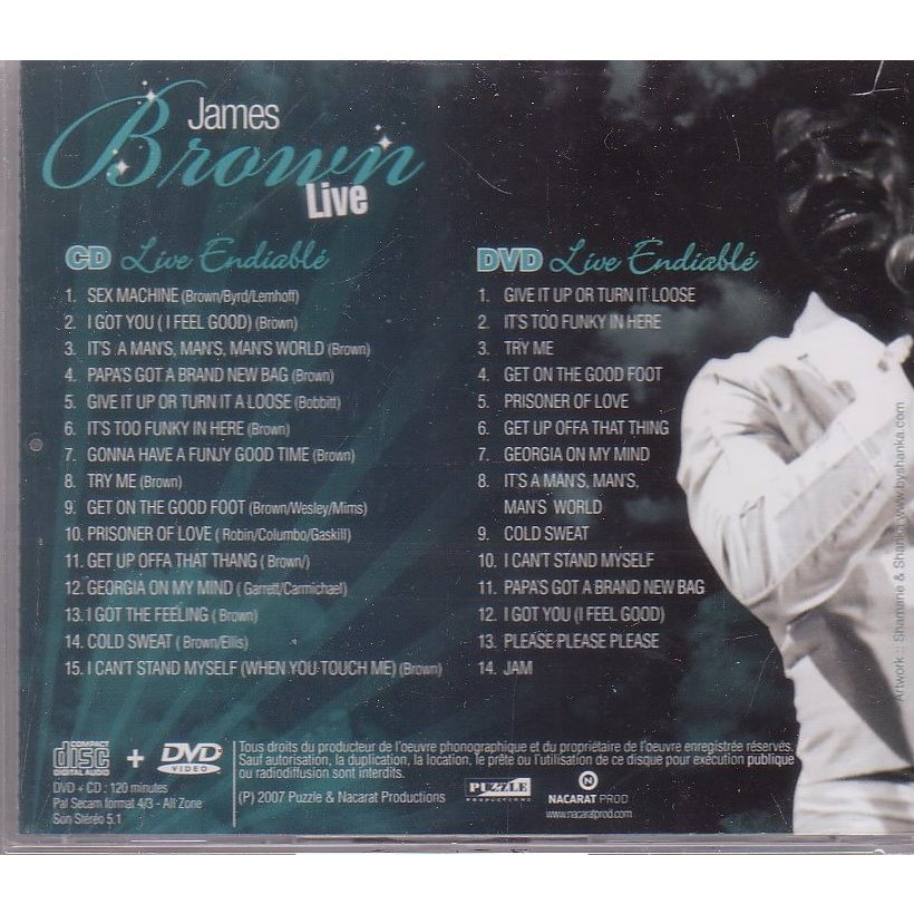 james brown live endiablé (1CD +1 DVD