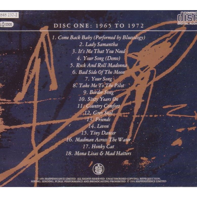 elton john to be continued (disc one)