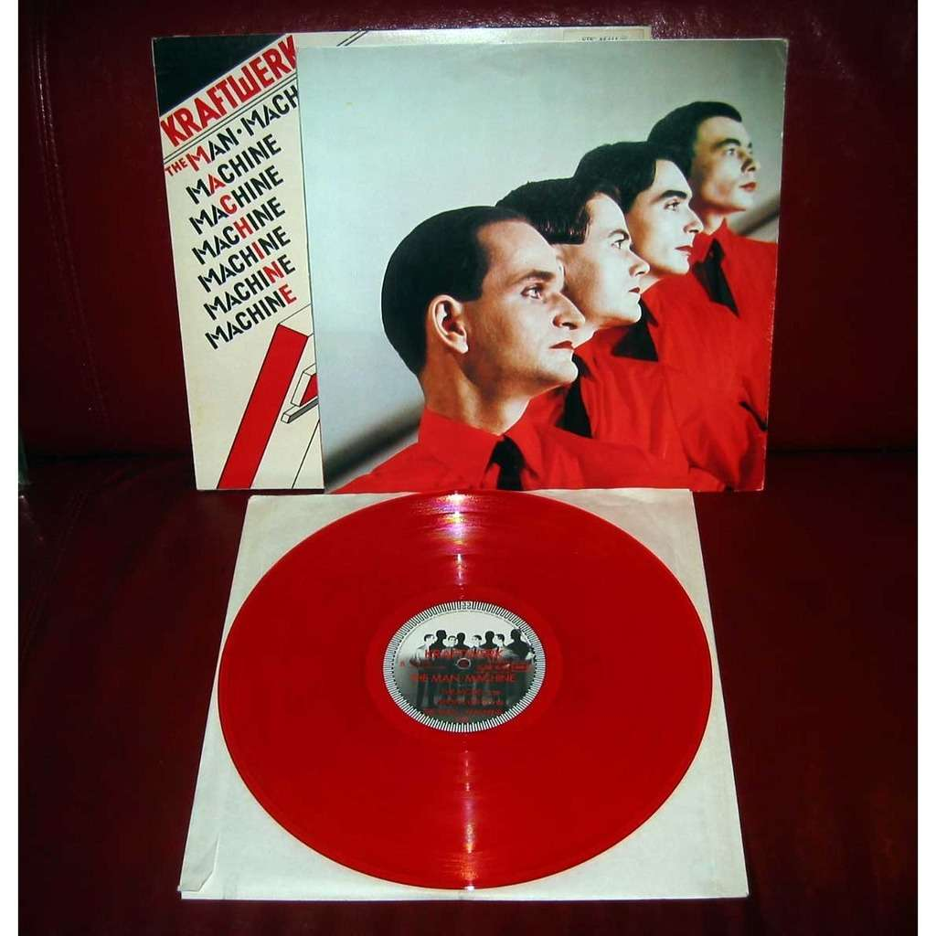 The Man Machine Red Vinyl By Kraftwerk Lp With