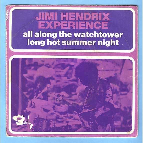 THE JIMI HENDRIX EXPERIENCE all along the watchtower / long hot summer night - scarce french 1st issue