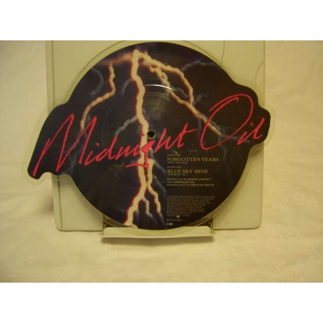 midnight oil Picture disc Forgotten Years/ Blue sky mine