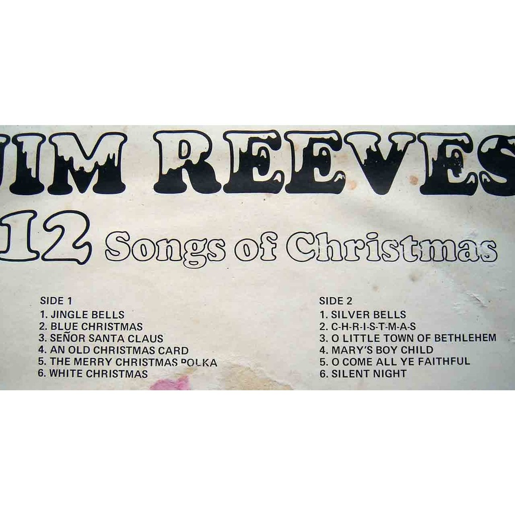 12 songs of christmas by Jim Reeves, LP with maziksound - Ref:115191343