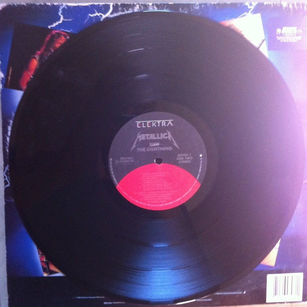 Ride The Lightning By Metallica Lp With Metro Ref