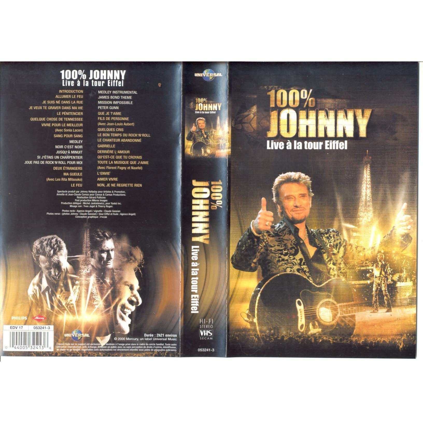 JOHNNY HALLYDAY 100% JOHNNY.LIVE A LA TOUR EIFFEL