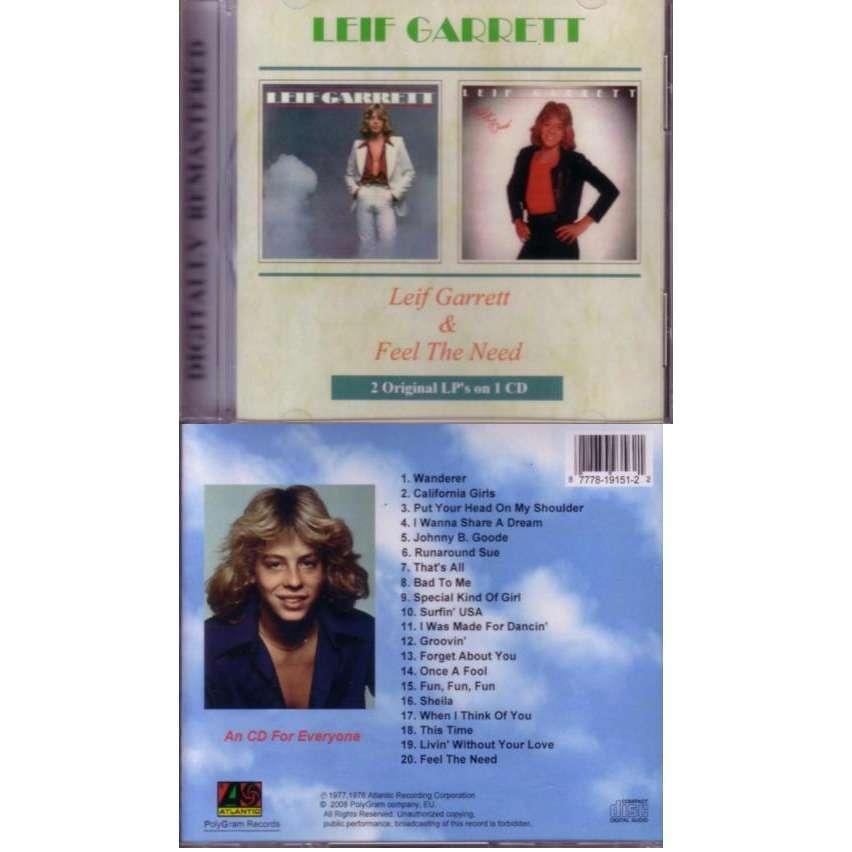 Leif Garrett 2 albums on 1 CD Feel the Need