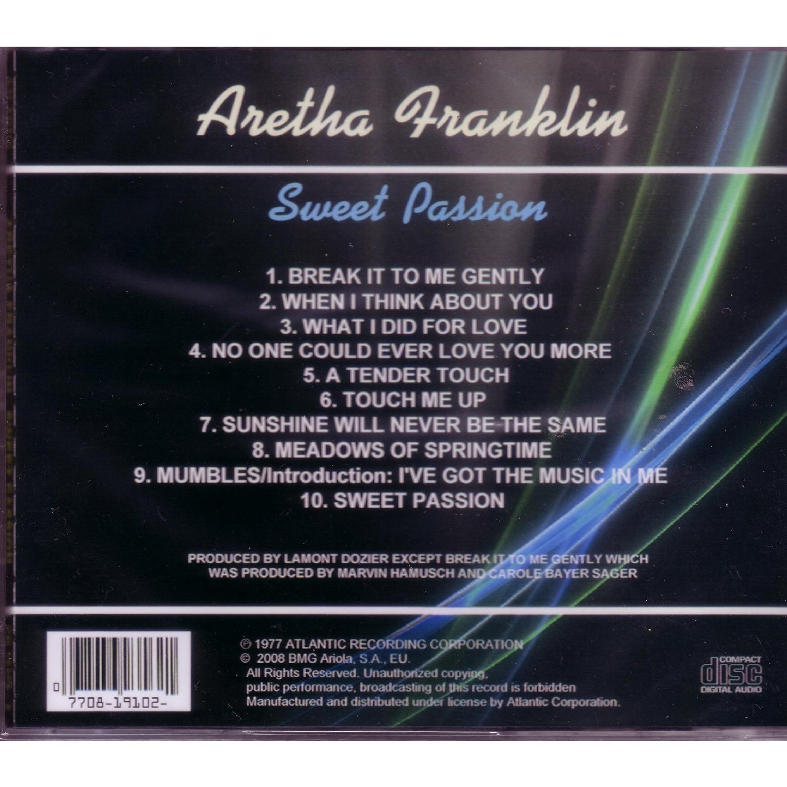 Sweet Passion By Franklin Aretha Cd With Musicshop Ref