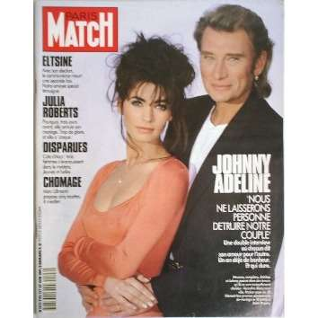 paris match n 2196 de johnny hallyday magazine chez musiquepourtous ref 114224371. Black Bedroom Furniture Sets. Home Design Ideas