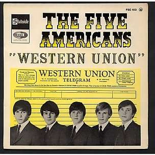 the five americans western union 7inch ep for sale on. Black Bedroom Furniture Sets. Home Design Ideas