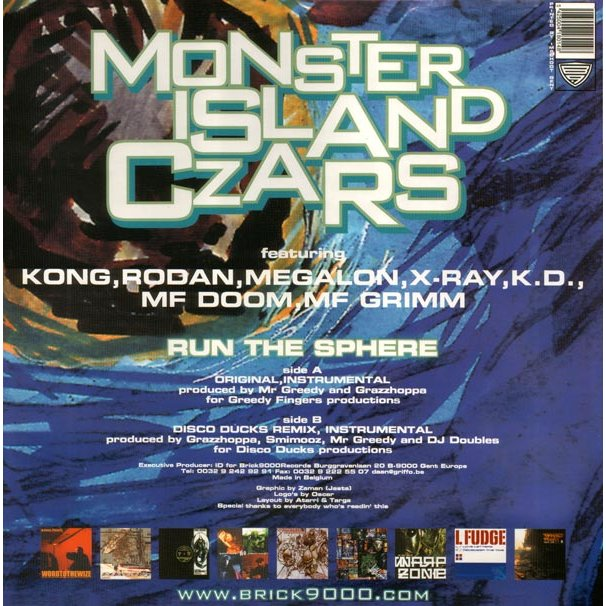 MONSTER ISLAND CZARS FEAT M F  DOOM run the sphere/ run the sphere