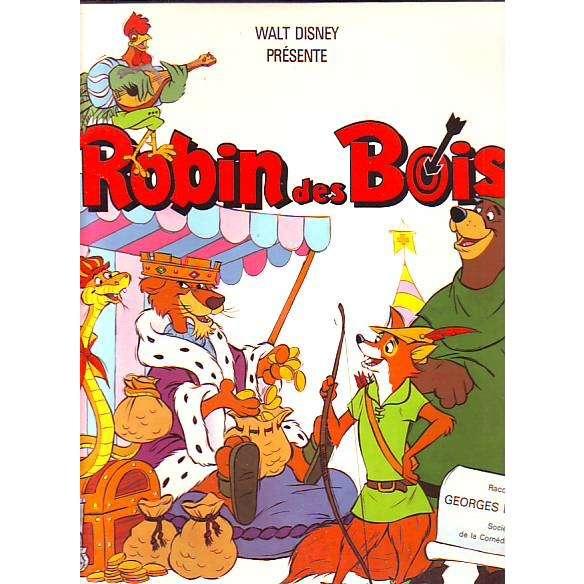 Walt disney ° robin des bois raconte par georges  ~ Image Robin Des Bois Disney