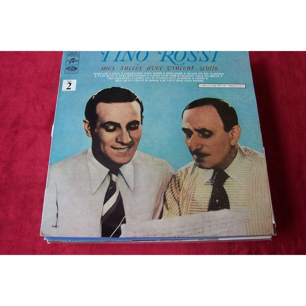 tino rossi MES SUCCES AVEC VINCENT SCOTTO  VOL 2