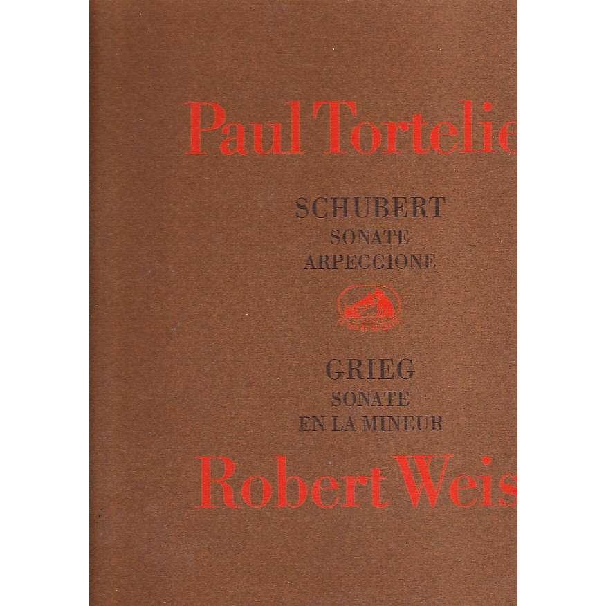 PAUL TORTELIER / ROBERT WEISZ SCHUBERT SONATE ARPEGGIONE / GRIEG SONATE EN LA MINEUR