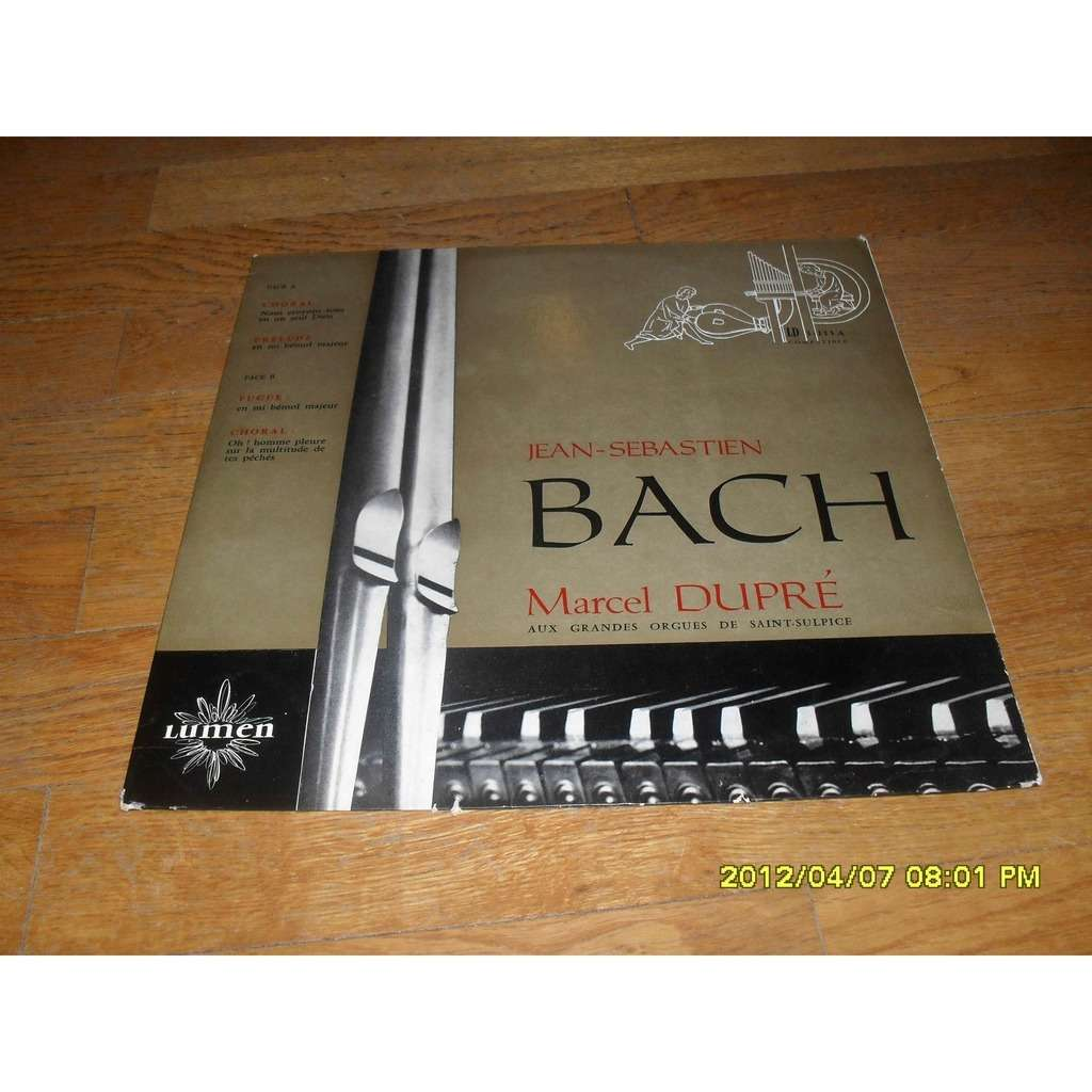 marcel dupre bach: choral,prelude,fugue,choral