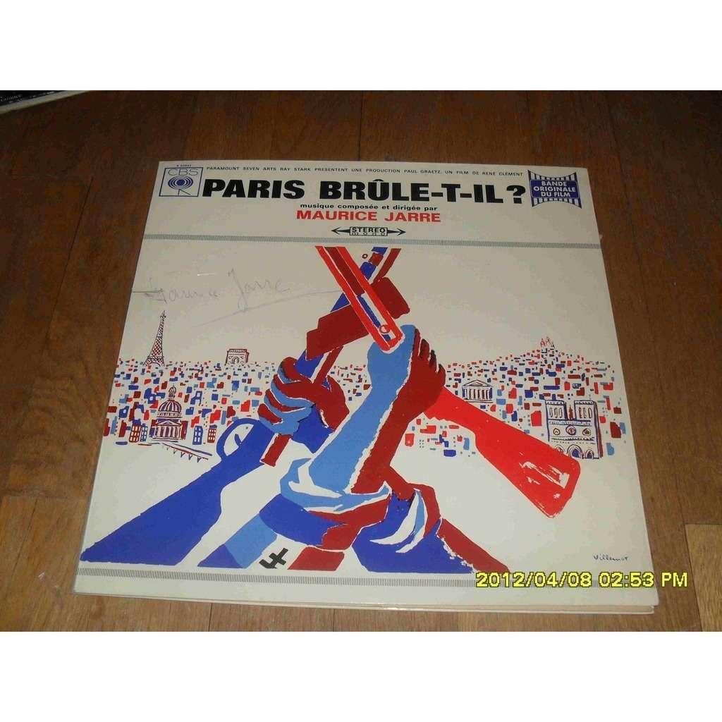 MAURICE JARRE PARIS BRULE-T-IL? signed!!!