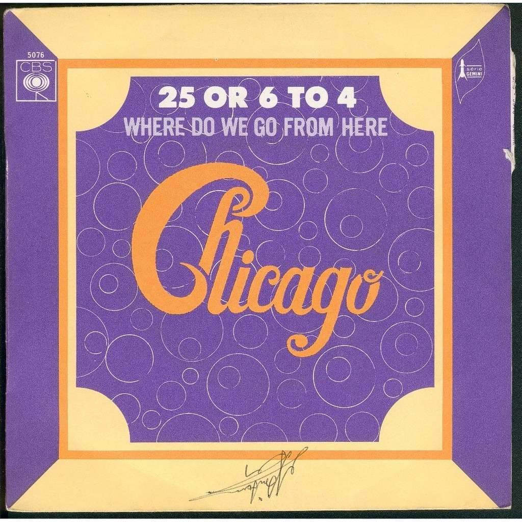 Supernatural Where Do We Go From Here: 25 Or 6 To 4 / Where Do We Go From Here By Chicago, SP