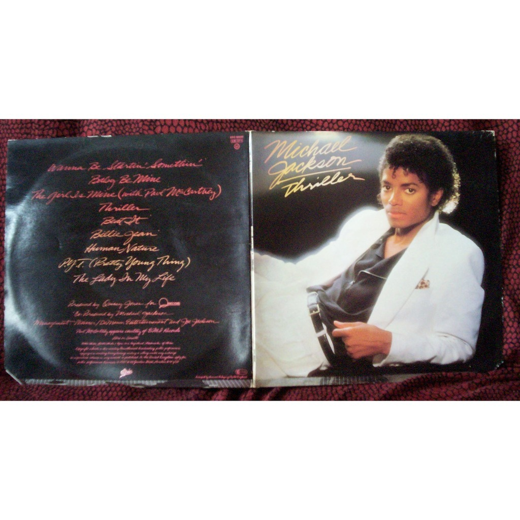 Thriller By Michael Jackson Lp Gatefold With