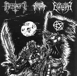BESATT / INFERNAL KINGDOM / EVIL WAR United By The Black Flag