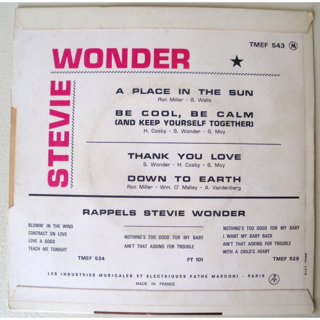close stevie wonder a place in the sun 3 7inch ep