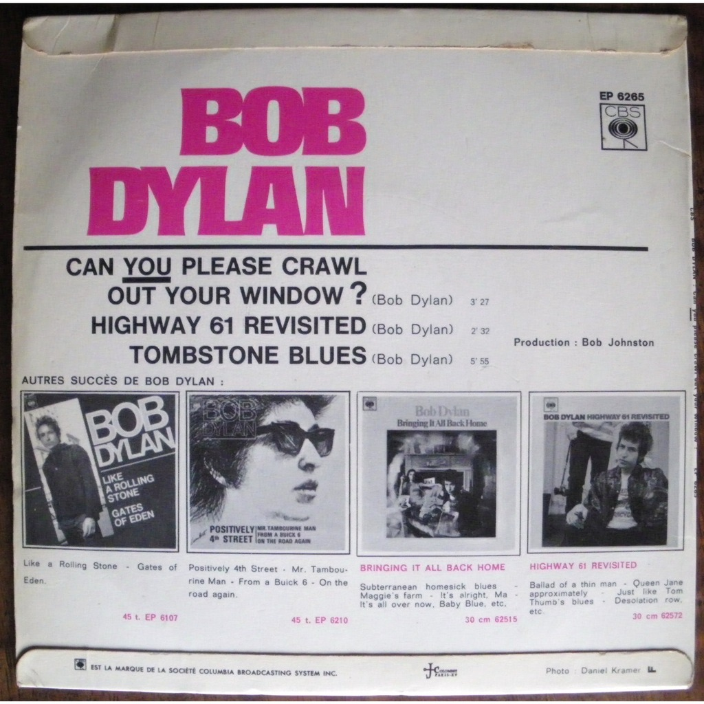 Can You Please Crawl Out Your Window Highway 61 Revisited