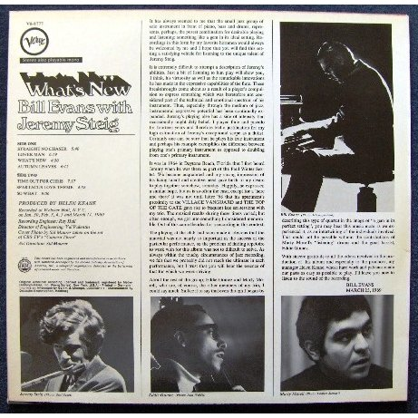 What S New By Bill Evans With J 233 R 233 My Steig Lp With