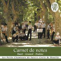 carnet de notes de les petits chanteurs de sainte croix cd chez pcscn ref 113287922. Black Bedroom Furniture Sets. Home Design Ideas
