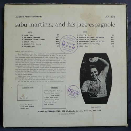 sabu martinez jazz espagnole (original black label silver print)