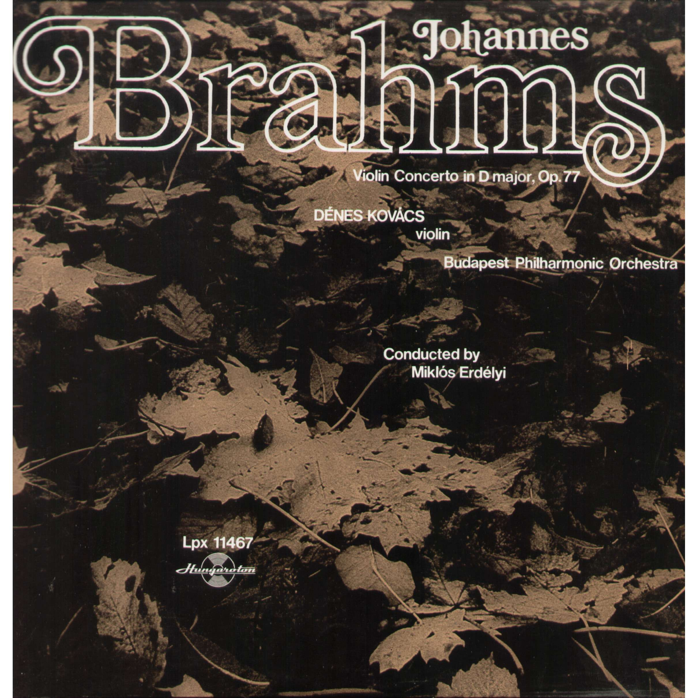 johannes brahms-denes kovacs violin concerto in D major, op.77