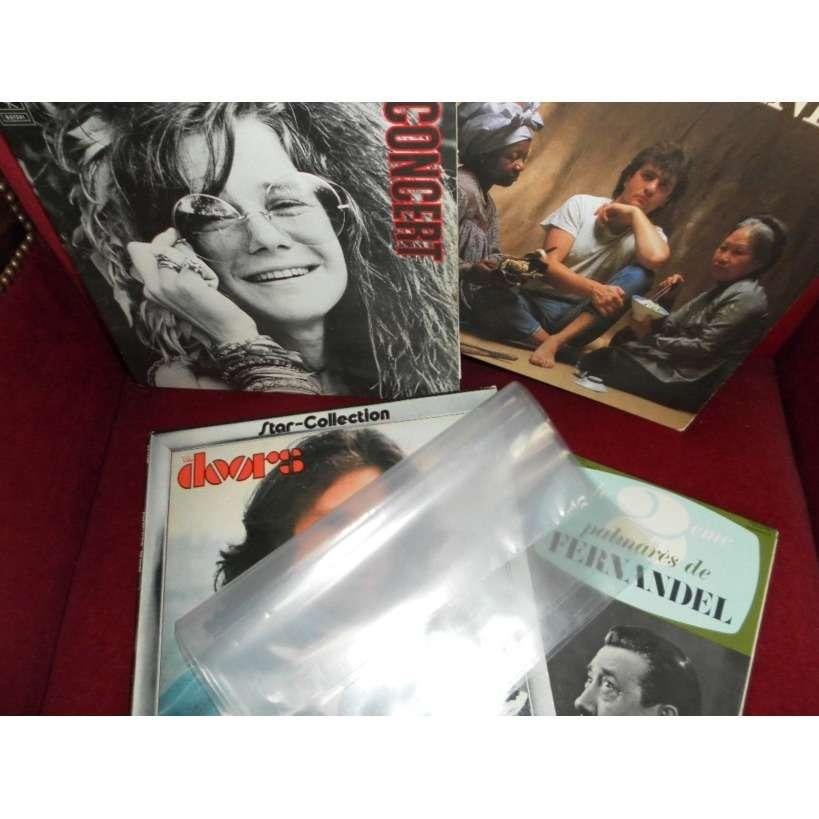 200 POCHETTES PLASTIQUES VINYLES 33 T. 200 pochettes plastiques disques vinyles 33 tours - 80 microns polyéthylène