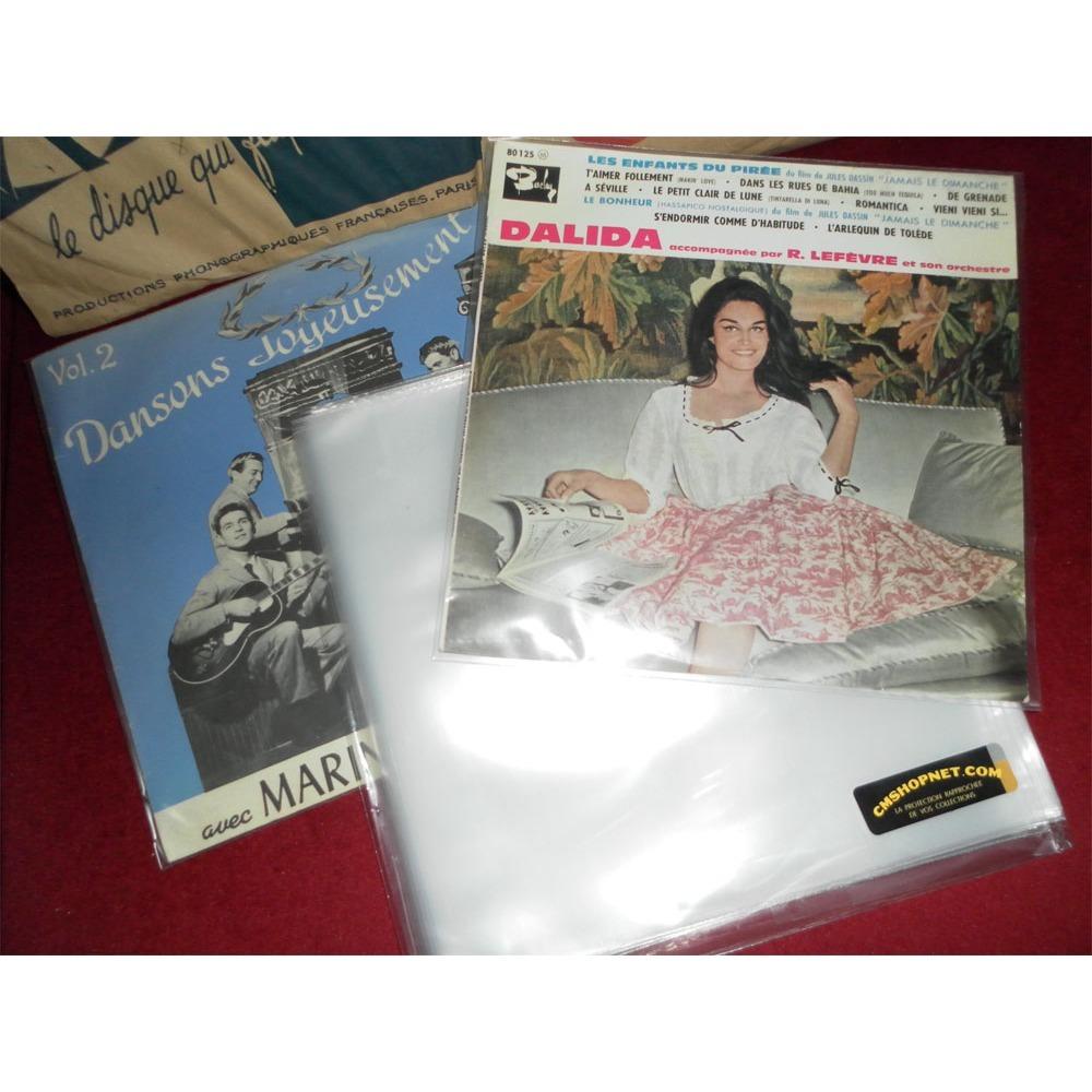 200 POCHETTES PLASTIQUES VINYLES 78 T. 200 pochettes plastiques neuves disques vinyles 25 cm / 78 tours - 80 microns polyéthylène