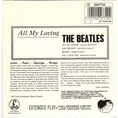 BEATLES ALL MY LOVING