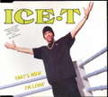 ICE T - That's How I'm Livin' - CD single