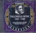 THELONIOUS MONK - 1947 - 1948 CLASSICS - CD