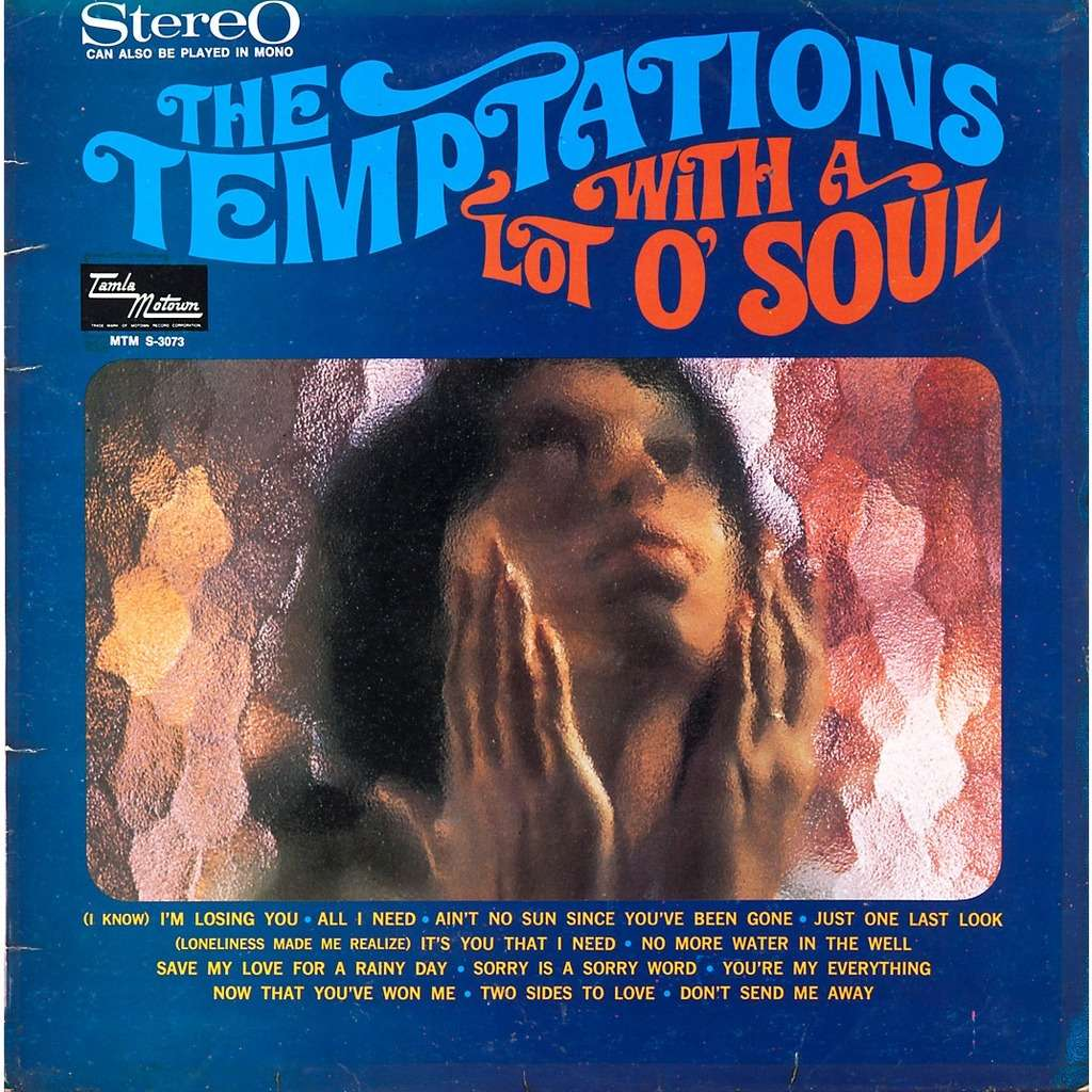 Temptations With A Lot O Soul Lp For Sale On