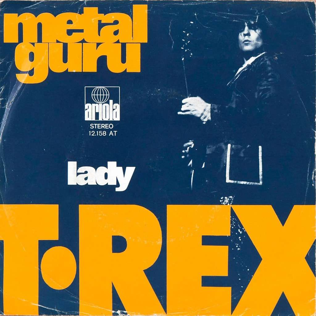 Metal Guru Lady By T Rex Sp With Rabbitrecords Ref